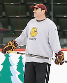 Bill Watson (Duluth - Volunteer Assistant Coach) - The University of Minnesota-Duluth Bulldogs practiced on Friday morning, April 8, 2011, during the 2011 Frozen Four at the Xcel Energy Center in St. Paul, Minnesota.