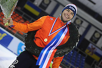 SHORTTRACK: AMSTERDAM: Jaap Edenhal, 04-01-2015, KPN NK Shorttrack, Kampioen Sjinkie Knegt, ©foto Martin de Jong
