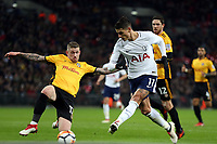 Erik Lamela of Tottenham Hotspur scores the second goal during Tottenham Hotspur vs Newport County, Emirates FA Cup Football at Wembley Stadium on 7th February 2018