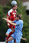 27 November 2011: Indiana's Nikita Kotlov (8) and North Carolina's Drew McKinney (23). The University of North Carolina Tar Heels defeated the Indiana University Hoosiers 1-0 in overtime at Fetzer Field in Chapel Hill, North Carolina in an NCAA Men's Soccer Tournament third round game.