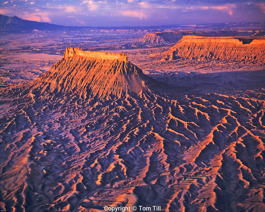 Factory Butte and Badlands at Sunrise, Proposed Wilderness, Utah
