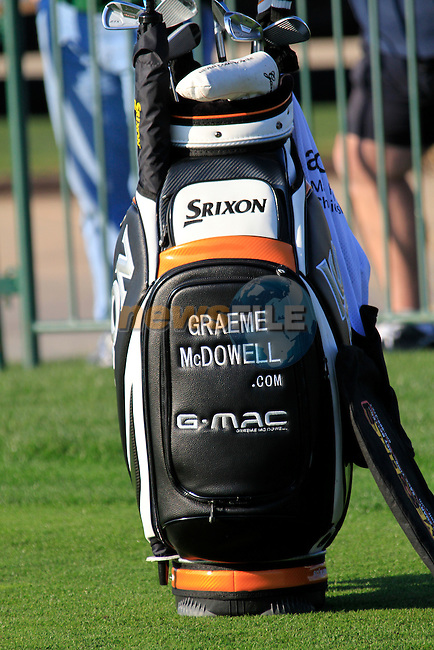 Graeme McDowell's golf bag during Day 2 of the Accenture Match Play Championship from The Ritz-Carlton Golf Club, Dove Mountain. (Photo Eoin Clarke/Golffile 2011)