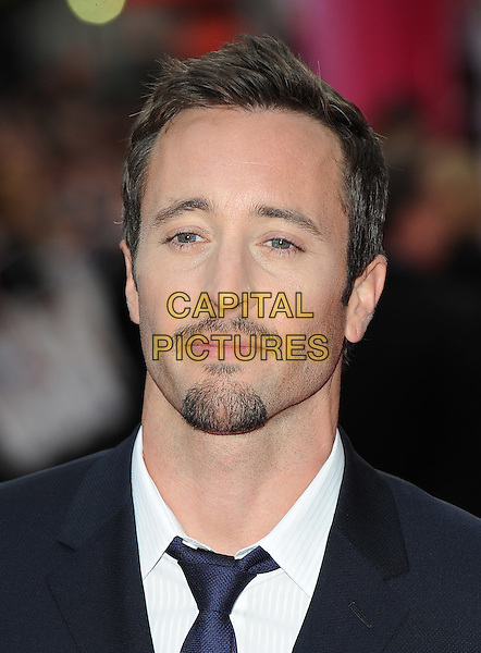 "ALEX O'LOUGHLIN .attending the Gala Film Premiere of ""The Back-Up Plan"", The Vue, Leicester Square, London, England, UK,.28th April 2010..arrivals portrait headshot goatee facial hair beard black blue tie white shirt moustache mustache .CAP/BEL.©Tom Belcher/Capital Pictures."