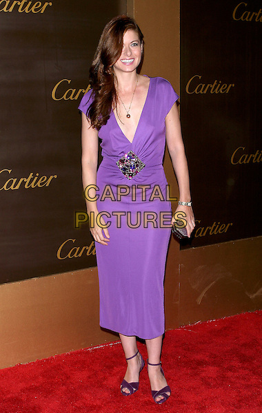 DEBRA MESSING.Cartier Celebrates 25 Years In Beverly Hills In Honor Of Project A.L.S. held on Rodeo Drive..May 9th, 2005.Photo Credit: Jacqui Wong/AdMedia.full length purple plunging neckline dress jewel detail .www.capitalpictures.com.sales@capitalpictures.com.© Capital Pictures.