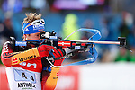 25/01/2015, Anterselva - Antholz - IBU Biathlon World Cup 2015 - Antholz -   Anterselva - Italy<br />  competes at the relay in Anterselva - Antholz, Italy on 25/01/2015. Norway's team win ahead Germany, France is third.