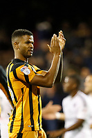 Fraizer Campbell of Hull City salutes the fans during the Sky Bet Championship match between Fulham and Hull City at Craven Cottage, London, England on 13 September 2017. Photo by Carlton Myrie.