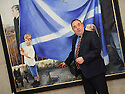 Scotlands' First Minister Alex Salmond in his Holyrood office.