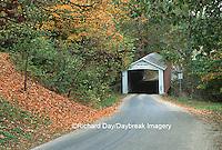 63904-01207 Melcher Covered Bridge in fall near Rockville   IN