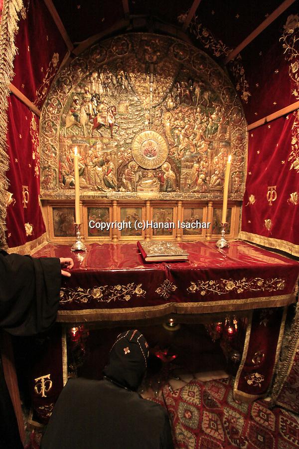 Bethlehem, the altar of the Nativity at the Church of the Nativity