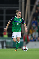 Northern Ireland's Steven Davis in action        <br /> <br /> <br /> Photographer Craig Mercer/CameraSport<br /> <br /> FIFA World Cup Qualifying - European Region - Group C - Northern Ireland v Czech Republic - Monday 4th September 2017 - Windsor Park - Belfast<br /> <br /> World Copyright &copy; 2017 CameraSport. All rights reserved. 43 Linden Ave. Countesthorpe. Leicester. England. LE8 5PG - Tel: +44 (0) 116 277 4147 - admin@camerasport.com - www.camerasport.com