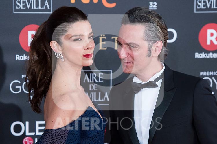 Juana Acosta and Ernesto Alterio attends red carpet of Goya Cinema Awards 2018 at Madrid Marriott Auditorium in Madrid , Spain. February 03, 2018. (ALTERPHOTOS/Borja B.Hojas)