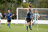 GRONINGEN - Voetbal, FC Groningen O23 - ACV, derde divisie, seizoen 2017-2018, 16-09-2017, FC Groningen speler David Browne in duel met ACV speler Marcel Seip