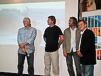 Peter 'Joii' Wilson (AUS), Tony 'Harro' Harrington (AUS),  Ben Ey (AUS) and Martin 'Marty' Tullemans...Friday June 25, 2010 Surf World Gold Coast, Currumbin, Queensland..The Surf Photographers Night at the Surf World Gold Coast Museum featured Tony 'Harro' Harrington, Marty Tullemans, Ben Ey and Peter 'Joli' Wilson..The four local photographers presented a selection of their work and gave a talk about the 'story' behind it's capture. An exhibition will run for six weeks featuring photos from all four photographers. The night marked the 1st birthday of the Museum, Photo: joliphotos.com