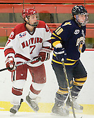 Danny Fick (Harvard - 7), Connor Jones (Quinnipiac - 10) - The visiting Quinnipiac University Bobcats defeated the Harvard University Crimson 3-1 on Wednesday, December 8, 2010, at Bright Hockey Center in Cambridge, Massachusetts.