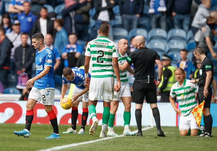 01.09.2019 Rangers v Celtic: Jordan Jones sent off
