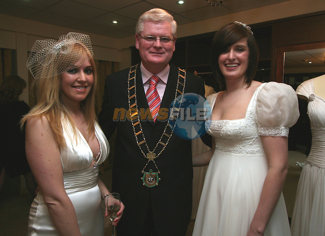 Moira Devine, Frank Maher and Rebecca Sexton at the Opening of Frilly Frocks Bridal Boutique, Blindgate House...Photo NEWSFILE/Jenny Matthews.(Photo credit should read Jenny Matthews/NEWSFILE)....This Picture has been sent you under the condtions enclosed by:.Newsfile Ltd..The Studio,.Millmount Abbey,.Drogheda,.Co Meath..Ireland..Tel: +353(0)41-9871240.Fax: +353(0)41-9871260.GSM: +353(0)86-2500958.email: pictures@newsfile.ie.www.newsfile.ie.FTP: 193.120.102.198.