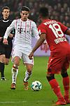 12.01.2018, BayArena, Leverkusen , GER, 1.FBL., Bayer 04 Leverkusen vs. FC Bayern M&uuml;nchen<br /> im Bild / picture shows: <br /> James Rodriguez (Bayern Muenchen #11),  gegen Wendell (Leverkusen #18), <br /> <br /> <br /> Foto &copy; nordphoto / Meuter