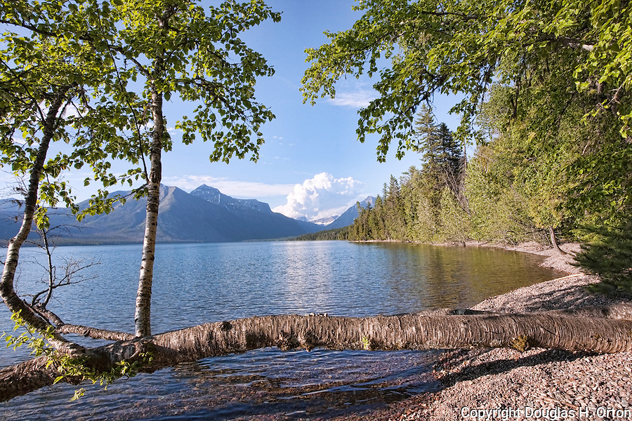 Lake McDonald, gem of Glacier National Park in the U.S. State of Montana, at ten miles long and over a mile wide is the largest lake in the park.
