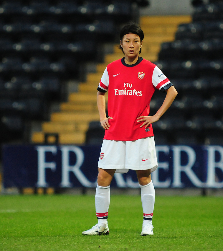 Arsenal Ladies' Yukari Kinga <br /> <br /> Photo by Chris Vaughan/CameraSport<br /> <br /> Women's Football - FA Women&rsquo;s Super League 1 - Notts County Ladies v Arsenal Ladies - Wednesday 16th April 2014 - Meadow Lane - Nottingham<br /> <br /> &copy; CameraSport - 43 Linden Ave. Countesthorpe. Leicester. England. LE8 5PG - Tel: +44 (0) 116 277 4147 - admin@camerasport.com - www.camerasport.com