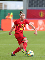 20190829 - LEUVEN , BELGIUM : Belgium's Laure Deloose is pictured during the female soccer game between the Belgian Red Flames and England , The Lionesses , a friendly womensoccer game in the preparation for the European Championship qualification round in group H for England 2021, Tuesday 29 th August 2019 at the King Power Stadion Den Dreef in Leuven , Belgium. PHOTO SPORTPIX.BE | SEVIL OKTEM