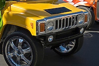 Golf Cart Custom Yellow Hummer Grille, Classic, Unique,