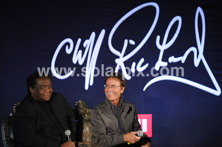 **ALL ROUND PICTURES FROM SOLARPIX.COM**                                             **WORLDWIDE SYNDICATION RIGHTS**                                                                                  Caption: Press Conference at Gilgamesh Restaurant in Camden Town  in London UK                                                                          .This pic: Sir Cliff Richard and Lamont Dozier                             .JOB REF:12930        SSD      DATE:07.03.2011                                                            **MUST CREDIT SOLARPIX.COM OR DOUBLE FEE WILL BE CHARGED**                                                                      **MUST AGREE FEE BEFORE ONLINE USAGE**                               **CALL US ON: +34 952 811 768 or LOW RATE FROM UK 0844 617 7637**