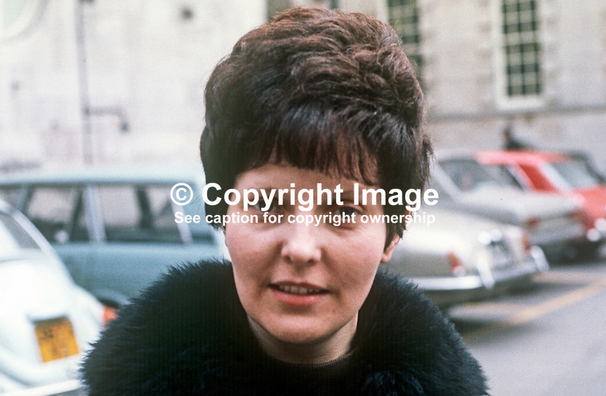 Margaret Miskimmin, Protestant Unionist, councillor, Belfast Corporation, N Ireland, February, 1971, 197102000154<br />