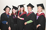 Sinead Nulty, Antoinette O'Hagan, Irina Matvejeva, Irene Sartini and Valerie Fahey who all graduated from Level 5 Business Bilingual at the DIFE Graduation in The Barbican...Picture Jenny Matthews/Newsfile.ie