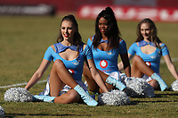Cheerleaders perform at the Super Rugby match between the Vodacom Bulls and the Jaguares at Loftus Versfeld in Pretoria, South Africa on Saturday, 7 July 2018. Photo by Steve Haag / stevehaagsports.com