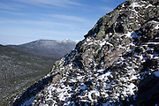 Scenic view of Franconia Ridge from the summit of Mount Flume in the White Mountains, New Hampshire USA.