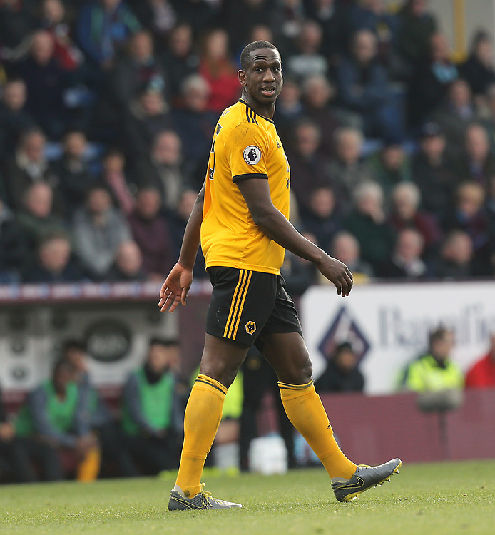 Wolverhampton Wanderers' Willy Boly<br /> <br /> Photographer Rich Linley/CameraSport<br /> <br /> The Premier League - Burnley v Wolverhampton Wanderers - Saturday 30th March 2019 - Turf Moor - Burnley<br /> <br /> World Copyright © 2019 CameraSport. All rights reserved. 43 Linden Ave. Countesthorpe. Leicester. England. LE8 5PG - Tel: +44 (0) 116 277 4147 - admin@camerasport.com - www.camerasport.com