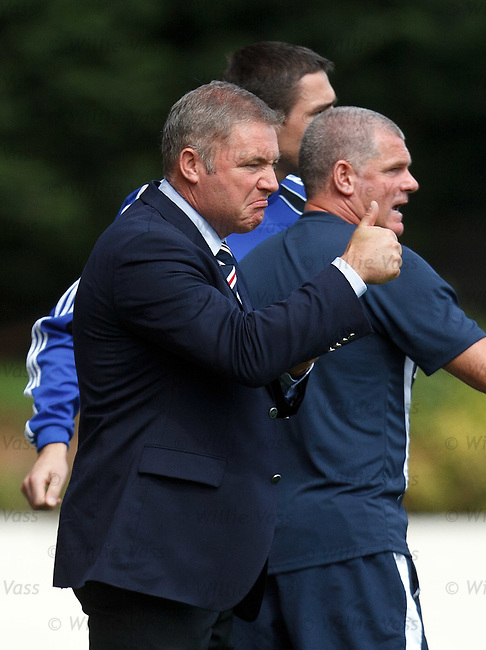 Thumbs up from Ally McCoist after goal