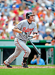 24 May 2009: Baltimore Orioles' first baseman Aubrey Huff in action against the Washington Nationals at Nationals Park in Washington, DC. The Nationals rallied to defeat the Orioles 8-5 and salvage a win in their interleague series. Mandatory Credit: Ed Wolfstein Photo