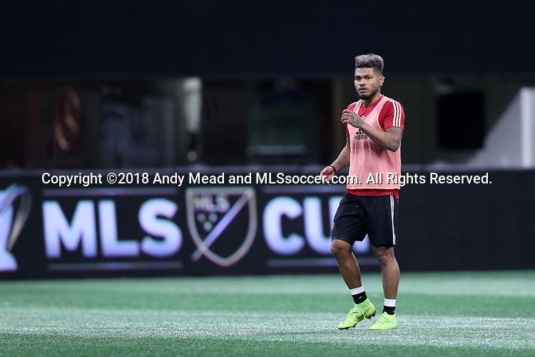 ATLANTA, GA - DECEMBER 07: Atlanta United FC's Josef Martinez. The MLS Cup 2018 Team Training Sessions were held on December 7, 2018 at the Mercedes Benz Stadium in Atlanta, GA.