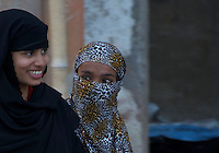 Muslim women near Varanasi Sarnath  Buddhist Area, Temple and Dhaekh Stupa India
