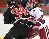 Kristi Kehoe (NU - 34), Kathryn Farni (Harvard - 8) - The Harvard University Crimson defeated the Northeastern University Huskies 1-0 to win the 2010 Beanpot on Tuesday, February 9, 2010, at the Bright Hockey Center in Cambridge, Massachusetts.