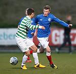 Adam Wilson with Celtic's Glen Eadie
