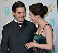 LONDON, UK - FEBRUARY 10: Rachel Brosnahan, Jason Ralph at the 72nd British Academy Film Awards held at Albert Hall on February 10, 2019 in London, United Kingdom. <br /> CAP/MPI/IS<br /> ©IS/MPI/Capital Pictures