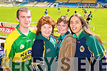 MArk O'Connor, Carmel Mansfield, Geraldine Riordan and Sinead Allen Tralee Kerry fans pictured at the GAA Chamoionship Quarter Final at Semple Stadium, Thurles on Sunday.
