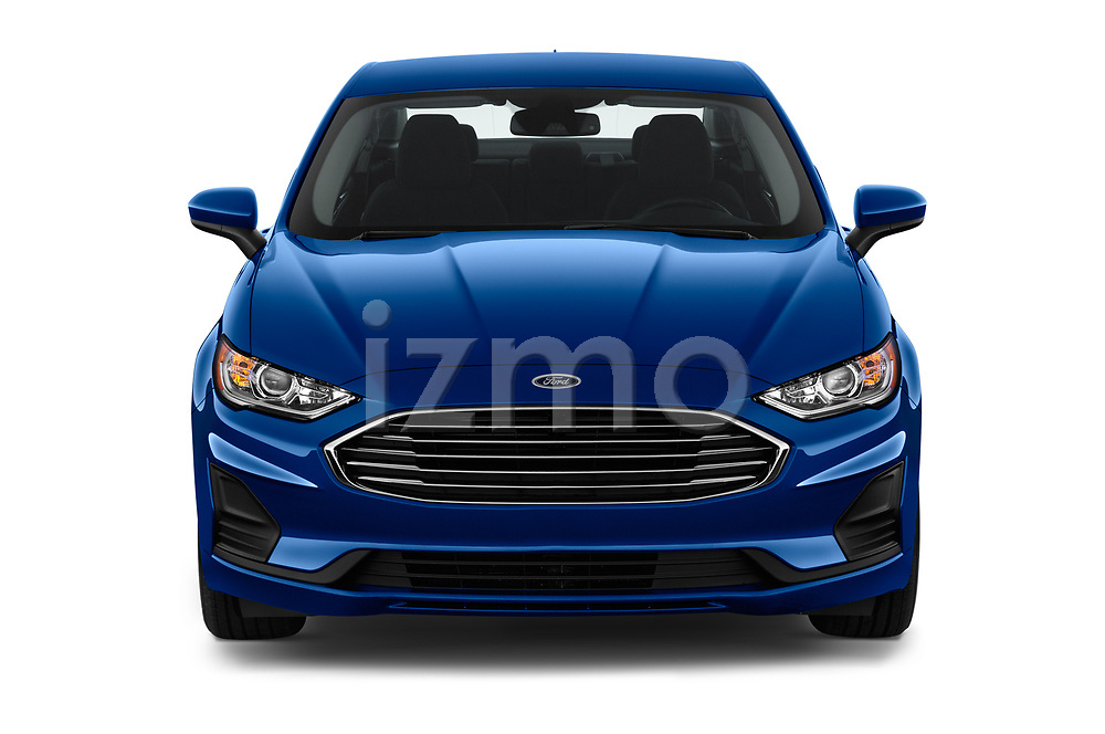 Car photography straight front view of a 2020 Ford Fusion SE 4 Door Sedan Front View