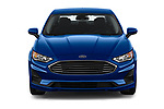 Car photography straight front view of a 2019 Ford Fusion SE 4 Door Sedan Front View