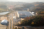 The IBC of PyeongChang Winter Olympics, Oct 30, 2017 : The International Broadcast Centre (IBC) of the 2018 PyeongChang Winter Olympics is seen in PyeongChang, east of Seoul, South Korea. The 23rd Winter Olympics will be held for 17 days from February 9 - 25, 2018. The opening and closing ceremonies and most snow sports will take place in PyeongChang county. Jeongseon county will host Alpine speed events and ice sports will be held in the coast city of Gangneung. (Photo by Lee Jae-Won/AFLO) (SOUTH KOREA)