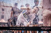 new Maglia Bianca (best young rider) Adam Yates (GBR/Orica-Scott) signing op<br /> <br /> Stage 19: San Candido/Innichen › Piancavallo (191km)<br /> 100th Giro d'Italia 2017