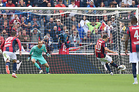 Nicola Sansone of Bologna FC scores the goal of 1-1 <br /> Bologna 22/09/2019 Stadio Renato Dall'Ara <br /> Football Serie A 2019/2020 <br /> Bologna FC - AS Roma <br /> Photo Massimiliano Vitez / Image Sport / Insidefoto