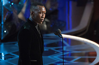 Mahershala Ali presents the Oscar&reg; for best supporting actress during the live ABC Telecast of The 90th Oscars&reg; at the Dolby&reg; Theatre in Hollywood, CA on Sunday, March 4, 2018.<br /> *Editorial Use Only*<br /> CAP/PLF/AMPAS<br /> Supplied by Capital Pictures