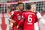 17.03.2019, Allianz Arena, Muenchen, GER, 1.FBL,  FC Bayern Muenchen vs. Mainz 05, DFL regulations prohibit any use of photographs as image sequences and/or quasi-video, im Bild Jubel nach dem Tor zum 3-0 durch Kingsley Coman (FCB #29) mit Thiago (FCB #6) <br /> <br />  Foto © nordphoto / Straubmeier