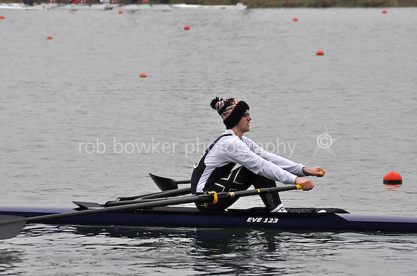 280 EveshamRC J17A.1x..Marlow Regatta Committee Thames Valley Trial Head. 1900m at Dorney Lake/Eton College Rowing Centre, Dorney, Buckinghamshire. Sunday 29 January 2012. Run over three divisions.