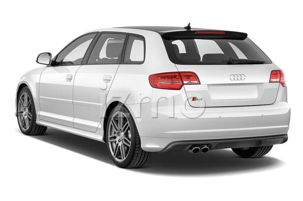 Rear three quarter view of a 2009 - 2013 Audi S3 Sportback 5-Door Hatchback 4WD.