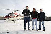 John Lippert, Bill Rienert and Alan Ohnsman in Ft McMurray - Tar Sand (Oil Sand) mining and refining near Ft McMurray Alberta