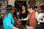 Days of Our Lives' Louise Sorel & Jane Elissa' Hats for Health (promoting awareness and to raise money for Leukemia/Lymphoma cancer research and patient aid) booth at the Grand Central's Vanderbilt Hall Holiday Fair on December 24, 2010 in New York City, New York. There are 76 vendors with the fair running from Thanksgiving to Dec. 24. (Photo by Sue Coflin/Max Photos)